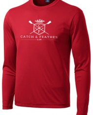 CatchandFeather_LongSleevePerformanceTee_red