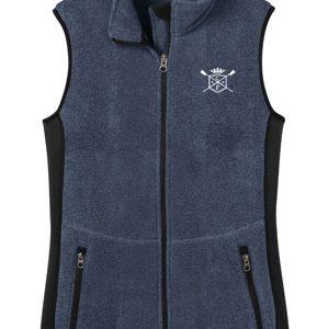 Women's Fitted Fleece Henley Vest