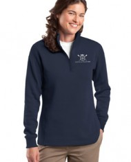 CatchAndFeather_LFLEECEQuarterZip_navy