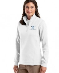 CatchAndFeather_LFLEECEQuarterZip_white