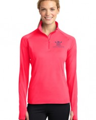 CatchandFeatherPerformancehalfzip_Model_hotcoral