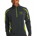 Men's Performance Colorblock 1/2  Zip