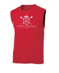 CatchandFeather_MensSleevelessPerformanceTee_red
